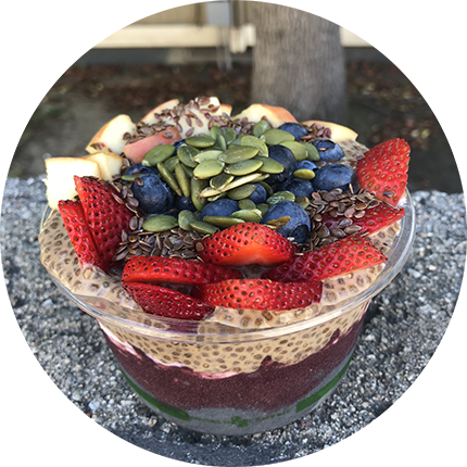 craft bowl with fruit
